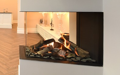 Windmill House fireplace