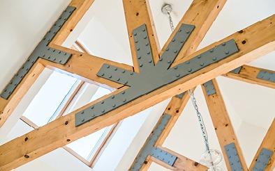 Whitehouse Lodge internal beams