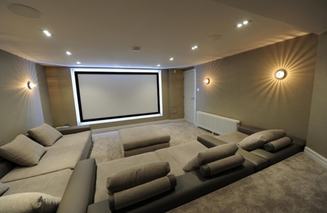 Woodville Terrace cinema room