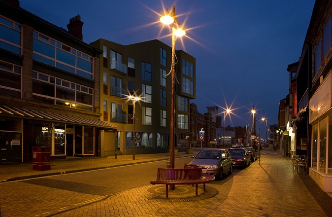 Queen Street regeneration, night shot